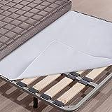 WOLTU MTS02ws05 Coprimaterasso Antiscivolo Traspirante Tappetino Igienico Comfort in Poliestere 160x200cm
