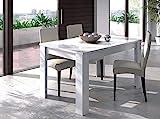 Bricozone Toledo Tavolo da Pranzo Allungabile, Tavolo Allungabile Fino a 190 cm, Tavolino in Legno, 140 x 78 x 90 cm, Bianco