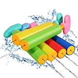 pistole ad acqua giocattolo,pistola ad acqua piccola,pistola ad acqua per bambini adulti,pistola ad acqua all'aperto,pistola ad acqua estivo,pistole ad acqua schiuma estate pool (6 Pack,21CM)