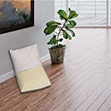Sleepys Cuscino in Lattice Naturale, 74x42 Alto 10 cm saponetta Forato con Fodera in Jersey 100% Cotone - Guanciale Lattice TALALAY Anallergico
