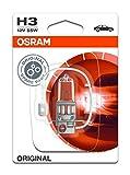 OSRAM Original 12V H3 Lampada alogena per proiettori 64151-01B - in Blister singolo