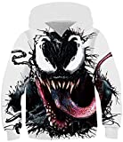 cneWID Boy's Hoodie Realistic 3D Print Sweatshirt Kids Long Sleeve Pocket Casual Pullover Venom Tongue 9-10 Years