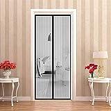 WEIZON Zanzariera Magnetica per Porte 110x200cm(43x79inch) Rete di Ottima qualità Zanzariera Porta Finestra Punch Gratuito Porte per Balconi, Portefinestre, (Nero)