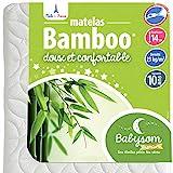 Babysom - Materasso per neonati in bambù, 60 x 120 cm, spessore 14 cm, sfoderabile, senza trattamento chimico