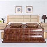 NCHEOI Summer Bamboo Mat Rattan Stuoie di Raffreddamento materassi a Doppia Faccia Pieghevoli materassi Cool per Dormire lettini (Size : A)
