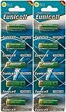 Eunicell - Batterie alcaline, 12V, 2blister con 5alcaline ognuna, A23/23A/MN21/V23GA/23, A23, prodotte in Germania, confezione da 10