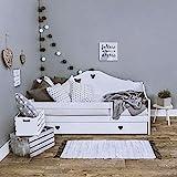 LULU MÖBEL Sophie- Lettino Completo con Materasso 80x160 cm, Rete a doghe di Legno e cassetto, per Bambini dai 2 Anni in su, per Ragazze, Ragazzi, Montessori, camerette (Bianco)
