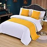 WLYX Letto Runner Sciarpa Bed Bandiera Moderna Minimalista Bedding Albergo Bed Mat Domestica copriletto Pillow Bed Asciugamano (Color : Crown, Size : 19.7X82.6''(59.0'' Bed))
