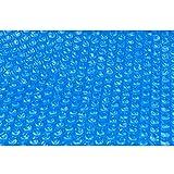 Aqualux 10812- Telone per Riscaldare l'acqua della Piscina, 42 cm x 42 cm x 23 cm-180μ, Diametro 366 cm, Blu
