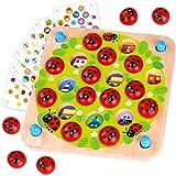 Nene Toys – Gioco Memory del Giardino delle Coccinelle – Gioco in Legno per Bambini 3, 4, 5, Anni con 10 Schede – Gioco Educativo di Alta qualità per Allenare la Memoria