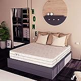 Baldiflex Easy 2.0 Materasso Memory Water Foam, Ortopedico, Antiacaro, Poliuretano, Bianco, 160 x 190 x 22 cm