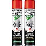 2 x Spray Antiacaro Disinfettante Per Materassi Tessuti Divano'ACAROMAYER' 400 ml| Spray Specifico Antiacaro Della Polvere Ad Azione Immediata| Atossico, Per Prevenire Le Allergie - Omaggio Incluso