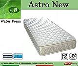 Ergorelax Materasso Water Foam Mod. Astro New Poliuretano Espanso Altezza Cm. 20 singolo - 80 cm x 200 cm