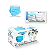 Mascherine Chirurgiche per Adulto 50pz Made in Italy Certificate CE Dispositivo Medico Classe I Tipo II BFE ≥ 99% Colore Celeste