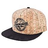 Blackskies Force of Nature Snapback cap | Cappelli di Baseball Unisex per Ladies Cork Uomini di Legno - Marrone Nero
