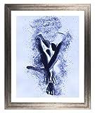 Cornice Misano 100 x 80 cm Cornice MDF Colore Metallo Antico in Stile Moderno con Vetro Artistico Trasparente 1 mm