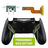 eXtremeRate DAWN Remap Kit Programmabile per Playstation 4 Joystick Scheda&Cover Posteriore&4 Pulsanti Posteriori per PS4 Controller JDM-040/050/055(Nero Antiscivolo)