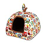 LoveSelfy Pet Nest, Foldable Dual-Purpose Yurt for Small Dogs, Dog House, Waterproof Pet Bed for Small And Medium Dogs, Clean, Comfortable, Cute And Soft, Suitable for Indoor Cats And Dogs.