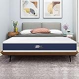 BedStory Materasso Matrimoniale in Memory Foam con Gel e Carbone di Bambù infuso da 20 cm, 140x190cm, Rivestimento rimovibile e lavabile, Materasso con migliore freschezza, antiacaro e ipoallegenico