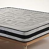 Offerta black friday Materasso Detraibile Alto 20 cm con 3 cm di memory foam Ortopedico, Prodotto Full Made in Italy, Non di importazione, Traspirante con fascia 3D matrimoniale 160x190