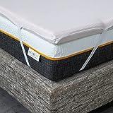 Comfy Line - Topper Matrimoniale 170x190 Correttore in Memory Foam 5,5 cm Lavorazione a 7 zone per Materasso - Fodera in Cotone Traspirante con Angoli - Made in Italy
