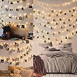 100LED Luci Led per Foto Polaroid - 10M Lucine Led Decorative per Camere Porta Foto Luci con Mollette Led per Foto Luci Decorative Interno
