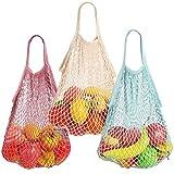 Borse per frutta e verdura, prodotti tipici riutilizzabili, per spesa, viaggio, compere Confezione da 3.