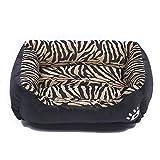 Shufeivicc. Animale Grano Four Seasons Genuine Warm Warm Pet Dog Tappetino per Cani, Dimensioni: S, 43 × 32 × 10 cm (Ambra) (Color : Black)