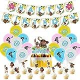 YUESEN Moana Palloncini in Lattice Decorazione Happy Birthday Banner Cake Topper Decorazione per Feste di Compleanno Moana Decorazione Forniture 30pcs