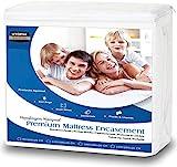 Utopia Bedding Coprimaterasso Impermeabile - Protezione Materasso Premium con Cerniera - Altezza Materasso 15-25 cm - Protezione da Liquidi, Insetti e Acari (140 x 200 cm)