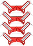 LaoSiJi 4 pezzi in lega di zinco 90 gradi ad angolo retto angolo cornice per foto morsetto angolo