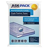 Custodia Materasso Premium Single (3. Génération) CON CERNIERA LAMPO - per materasso da Larghezza 100cm / Altezza 30cm / Lunghezza 200cm- EXTRA forte 100µ