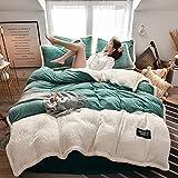 set copripiumino letto matrimoniale,Autunno e inverno letto di flanella spessa letto singolo matrimoniale copripiumino singolo hotel per famiglie regalo di Natale extra large-M_Letto da 1,5 m (4 pezz