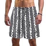 Shiiny - Costume da bagno da uomo con bosco di betulla, asciugatura rapida, estivo, da surf, spiaggia, con fodera in rete, taglia L Multicolore S