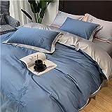 Cactuso Set Copripiumino in Microfibra-Giornata Estiva Seta Seta Light Light Luxury Tiansi Silin Biancheria da Letto Speciale-Blu
