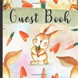 Guest Book: Gorgeous Rabbit Theme Party Guest Book Includes Gift Tracker and Picture Memory Section