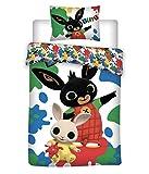 Bing Bunny - Biancheria da letto in cotone, 140 x 200 cm + 70 x 90 cm