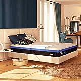 Baldiflex Materasso Piazza e Mezza a Molle e Memory Hybrid Bros misura 120x190 cm H25 cm