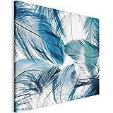 Revolio 120x80 cm Quadro Moderno Stampa su Tela Canvas per Camera da Letto Soggiorno Decorazione Murale Stampe da Parete Grandi Dimensioni - Penna di Arte visiva Verde Blu