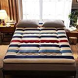 AICKERT Materasso Letto futon Matrimoniale e Singolo Pieghevole e Arrotolabile. materassi da Terra 90 * 200cm~200 * 220cm futon Trapuntato salvaspazio | Bed Ground,E,135 * 200cm