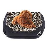 STZLY Pet Letto Pet Supplies Animal Grano Four Seasons Caldo Autentico Pet Dog Kennel Mat, Taglia: XXL, 95 × 72 × 18 Centimetri (Ambra) (Color : Black)
