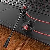 LCSD Auricolare da Gioco 3,5 Millimetri Gaming Headset con Doppio Microfono Staccabile Set for for PS4 PC Phone Plug-in Design A Doppia Grano.con Cavo di Conversione Uno-a-Due, Custodia Auricolare.