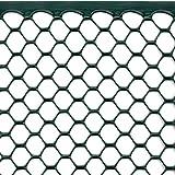 Rete Protettiva per Balconi, Recinzioni e Cancellate, 0,50 x 5 m, Tenax Exagon Verde