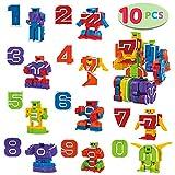 JOYIN 10 Numero Robot Trasformabile Educativi Giocattoli per Bambini, Festa di Compleanno Giocattolo per l'Educazione