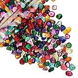 Naturale Chip Stone Beads 5-8 mm multicolore circa 400 pezzi irregolare delle pietre preziose gioielli Healing allentato Crystal Rock Bead Forato foro per il braccialetto rotolo di Crystal Line