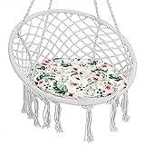 Cuscini per Sedie Papasan da Pavimento grandi - a Materasso Poltrone Esterno (Fiori 1, Ø 60 cm Poliestere)