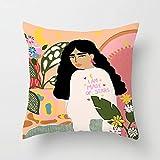 PPMP Pittura a Olio Donne Fiore tiro Federa Matisse Modello Ispirato casa Divano Sedia Cuscino Decorativo Federa Federa A11 45x45 cm 1pc