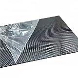 SOFIALXC 3K Lastre in Fibra di Carbonio per Parti di Aeromobili Modello Materia Durezza Composita Elevata (Twill, Superficie Lucida)-40cmx40cmx1.5mm
