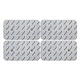 4 elettrodi pads 10x5 cm compatibili con COMPEX elettrostimolatore per terapia TENS e massaggio EMS - qualità axion