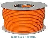 TDA Bobina 100M cat 7, cavo Ethernet, senza alogeni, rame 1000 MHz (bobina cat. 7, 100M, arancione).